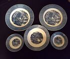 Miscellaneous Currier and Ives Royal China Dishes Grist Mill Early Winter Plates