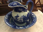 Chinese export Ironstone Blue And White Pitcher And Wash Basin Mint condition !!