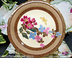LIMOGES FRANCE COMPORT FOOTED CAKE PLATE PAINTED RAISED GILT BUTTERFLY