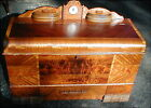 RARE Lane 1948 Art Deco Luxury Cedar Chest With Orig Clock & Bottom Drawer MORE