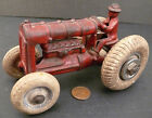 Vintage Cast Iron Red Arcade Tractor w/ Balloon Tires 1800x24