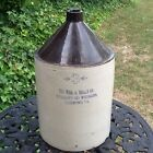 PHIL G KELLY 3 GALLON BLUE STINCILLED STONEWARE POTTERY WHISKEY JUG 1905 -1915