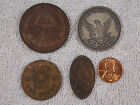 5 diff. Vintage Masonic Fraternal F. O. E. Medals Penny Elongated Cent Coin