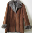 Vintage Faux Fur and Suede Coat Marvin Richards Womens Size Large