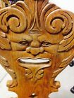 antique carved wood north wind face saddle seat M. Reischman & Sons - OAK CHAIR