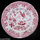 Staffordshire Pearlware Toy Dinner Set Plate FRUIT BIRD BUTTERFLY Meigh 1830 Red