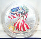 1999 Full Color American Eagle Silver Dollar with COA and Box
