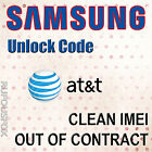 ATT USA Unlock Code Samsung Galaxy S2 S3 S4 S5 S6 S7 S8 Edge Note 234 Clean