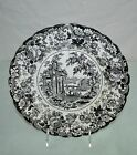 Antique English Plate Black & White Transferware 10