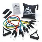 Black Mountain Products Resistance Band Set With Door Anchor, Ankle Strap, And