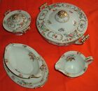 Noritake Dresalda 4 items: covered soup/vegetable bowl, creamer,sugar,gravy boat