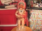 Universal Statuary Corp. Chicago 1976 Standing Indian Chief Signed Rendrick