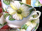 TUSCAN TEA CUP AND SAUCER PAINTED DOGWOOD FLORAL PATTERN TEACUP
