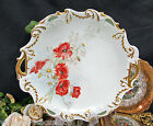 LIMOGES FRANCE HANDPAINTED POPPY AND DAISY  FLORAL PLATE 1890'S