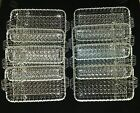 8 VINTAGE DEPRESSION GLASS 3 PART DIVIDED TRAY CONDIMENT RELISH DISH PLATE