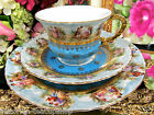 GERMANY COURTING COUPLE TEA CUP AND SAUCER MEN IN GARDEN  PATTERN TEACUP
