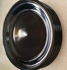 RETIRED FIESTA 463 BLACK Bread and Butter Plates set of 4ea  post 1986