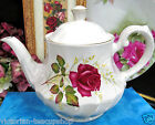 RIDGWAY ENGLAND TEAPOT ANNIVERSARY ROSE PATTERN RED ROSE TEA POT