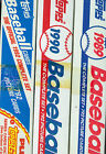 1989 1990 1992 Topps Baseball Card Complete Box set Collection FACTORY SEALED