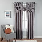 Stylemaster Rivington Faux Silk Waterfall Valance w/ Beaded Trim 36 x 37