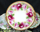 LIMOGES FRANCE PLATE  HAND PAINTED ARTIST SIGNED ROSES CHARGER 12.75