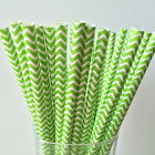 Paper Straws Green Wave For Party Birthday Wedding 25Pcs Biodegradable