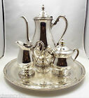 Vintage International Silver Silverplate 3 piece Coffee Set with Tray, Camille