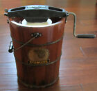 Vtg Richmond Cedar Works Sterling Ice Cream Freezer Hand Crank
