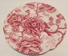 ENGLISH CHIPPENDALE Set 8Red Pink BREAD PLATE 6-3/8