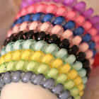 10x Black Colorful Girl Elastic Rubber Hair Ties Band Ropes Ponytail Holder