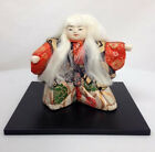 Vintage Japanese Kabuki Theatre Doll Dressed as White Lion or Kagami Jisha
