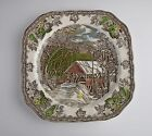Johnson Brothers China THE FRIENDLY VILLAGE Square Salad Plate(s)Multi Avail  EX