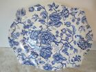 Johnson Brothers ENGLISH CHIPPENDALE-BLUE 13 3/4 Platter -