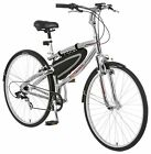 Schwinn Skyliner 700c Hybrid Bike, Silver/Red *Free front/rear lights