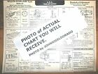 1932 1933 Willys-Overland EIGHT Series 8-88A Standard Models AEA Tune Up Chart