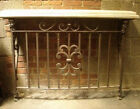 Wrought Iron Console Table With Marble Top #3225