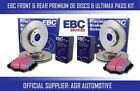 EBC FRONT + REAR DISCS PADS FOR VAUXHALL ASTRA SPORT HATCH 1.6 T 180HP 2007-10