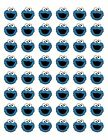 48 COOKIE MONSTER ENVELOPE SEALS LABELS STICKERS 12 ROUND
