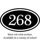 Personalized House Address Number Sign Aluminum Plaque 12 x 7 Custom Colors