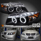 Black 2006 2008 BMW E90 323I 335I 3 Series LED Projector Headlights Left+Right