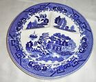Vintage  Blue Willow Grill Plate Divided Platter Made in Japan Restaurant Ware