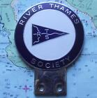 Vintage Chrome Enamel Car Mascot Badge for Sailing  River Thames Society London