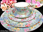 SHELLEY TEA CUP AND SAUCER CHINTZ MELODY PATTERN WITH PLATES TEACUP SET