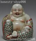 old Chinese buddhism wucai Porcelain happy laugh Maitreya Buddha wealth statue