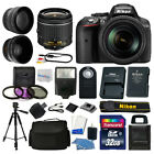 Nikon D5300 Digital SLR Camera Body 3 Lens Kit 18 55mm Lens + 32GB Top Value