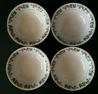 4 Gibson Holly Celebration Cereal Bowls Christmas Holiday China Soup White