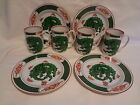 Fitz & Floyd Dragon Crest Salad Plates and Mugs-8 Pieces-4 of Each