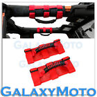 Deluxe Extreme RED Roll Bar Grab Handle Set for 77 16 Jeep Wrangler JK TJ YJ CJ