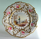 Antique English or Paris Porcelain Plate ~ BOY w PULL TOY ~ Hand Painted Gilded