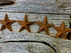 4 ANTIQUE-STYLE RUSTY RUSTIC CAST IRON STAR BARN DECOR 5.5